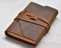 Cortado Journal Leather Notebook Refillable by LUSCIOUSLEATHERNYC