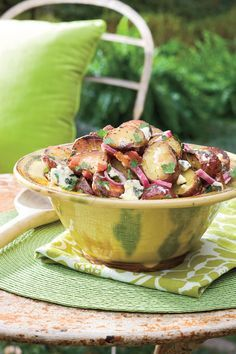 Grilling the potatoes in an easy-to-fold aluminum foil packet adds a subtle note of smoky flavor–plus it makes cleanup a breeze.Recipe: Big Daddy's Grilled Blue Cheese-and-Bacon Potato Salad