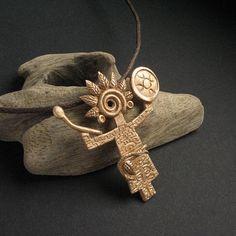 Shamanic Knowledge- Voice of mother Earth -OOAK pendant, amulet, shamanism, talisman, spiritual jewelry,shaman, handmade FREE SHIPPING