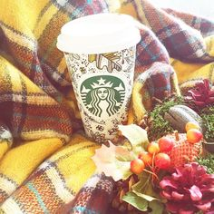 When you get a cool Starbucks mug & it's officially Autumn so you wrap your scarf round it for an Instagram...  by zozeebo