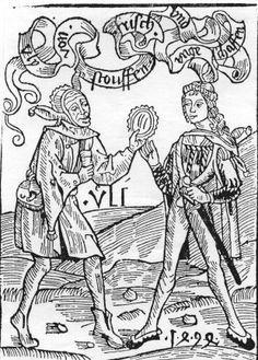 Illustration de texte. (la nef des fous) 179