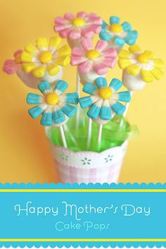 Flower Cake Pops Recipe by Bakerella Perfect For Easter, Mothers Day, or a spring bake sale.