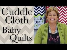 ▶ Make a Baby Quilt: Easy Quilting with Shannon Cuddle Cloth Kits! - YouTube