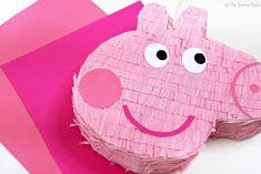 Create A Peppa Pig Piñata - As The Bunny Hops® Pig Birthday, Birthday Party Themes, Peppa Pig Pinata, Romantic Picnics, Pig Party, Perfect Party, Card Stock, Picnic Recipes, Picnic Ideas