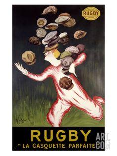 Rugby, La Casquette Parfaite Giclee Print by Leonetto Cappiello at eu.art.com