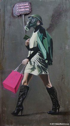 this artwork by Garth Marias comments on our obsession with consumerism