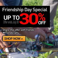 Friendship Day special offer starts now: Take up to 30% off bundle offer http://www.genstattu.com/promotion