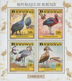 BUR 14101 aWading birds Postage Stamps, Birds, Prints, Bird, Stamps, Printmaking