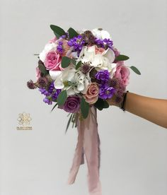 "2 aprecieri, 0 comentarii - BLOOMERIA (@bloomeria.ro) pe Instagram: ""𝘾𝙤𝙡𝙤𝙧𝙨 💜🌸 #bloomeria #welcometotheworldofflowers #colors #bouquet"" Floral Wreath, Bouquet, Wreaths, Colors, Instagram, Home Decor, Decoration Home, Door Wreaths, Room Decor"