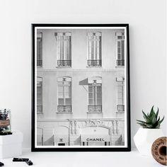 Chanel Storefront Print // Minimalist Poster // by TypologiebyToni