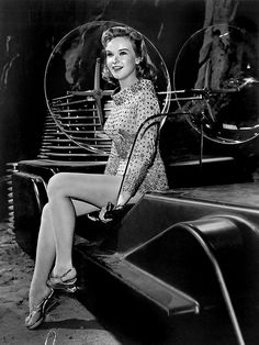 Anne Francis looking very futuristic in the sci fi classic, THE FORBIDDEN PLANET