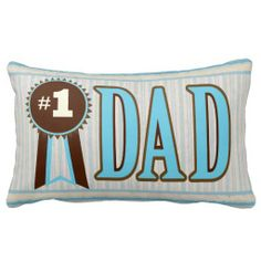 #NumberOneDad #FathersDay #BestDadPillow #dadGifts #zazzle #jamiecreates1