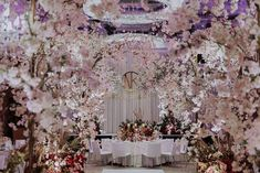 Romantic Sakura Wedding at Grand Hyatt Kuala Lumpur - The Wedding Notebook magazine Cherry Blossom Season, Cherry Blossom Tree, Blossom Trees, Love Flowers, Beautiful Flowers, Wedding Bands, Our Wedding, Wedding Notebook, Elegant Chandeliers