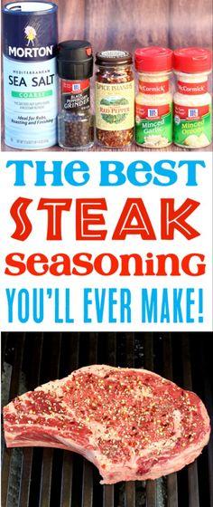 This simple, homemade steak spice recipe is the perfect . This simple, homemade steak spice recipe is the perfect addition … Steak recipes! This simple, homemade steak spice recipe is the perfect addition … Grilled Steak Seasoning, Steak Marinade Recipes, Grilled Steak Recipes, Beef Recipes, Simple Steak Seasoning, Ribeye Steak Marinade, Homemade Steak Marinade, Ribeye Steak Dry Rub Recipe, Grill Seasoning Recipe