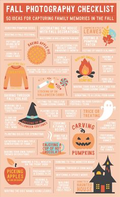 50 Family Photo Ideas for Fall // Fall Photography Ideas Autumn is the perfect season to photograph family traditions and the beauty of nature. See if you can capture all 50 of these fall-tastic moments! Herbst Bucket List, Autumn Photography, Photography Ideas, Halloween Photography, Levitation Photography, Exposure Photography, Water Photography, Toddler Photography, Photography Couples