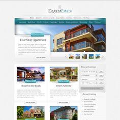 ElegantEstate Real Estate WordPress Theme | WordPress Theme Download
