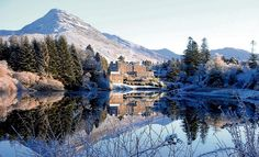 IRELAND Ballynahinch Castle, Connemara, Co Galway, in the snow: home of Humanity Dick Martin, founder of the RSPCA, and of Indian Prince Ranji.   Photograph: courtesy Ballynahinch Castle