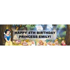 Disney Snow White Personalized Birthday Banner