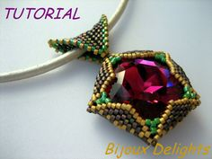 *P Designer 27mm Swarovski Crystal Pendant with a Leather Cord. This exciting first tutorial of 2014 will teach you step by step