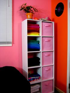 Clothes organization while in an area without a closet