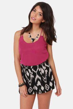 Costa Blanca Flutterby Berry Pink Tank Top at LuLus.com! #lulusrocktheroad