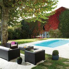 Salon de jardin résine tressée Portofino#détente#outdoor#extérieur#ambiance#déco#summer#accessoires#jardin#LaBoutiqueDesjoyaux