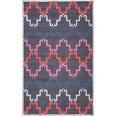 """nuLOOM Wool Temeka Trellis Area Rug - Grey (7'6""""x9'6"""")"""