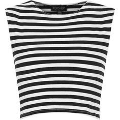TOPSHOP Stripe Stretch Crop Top (40 BRL) ❤ liked on Polyvore featuring tops, shirts, crop tops, blusas, black, topshop, black crop top, striped crop top, stretch shirt and black top
