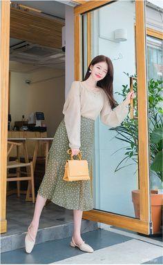 T-Shirts, Dress, Blouse, Skirts, Pants & Korean Fashion Dress, Korean Dress, Korean Street Fashion, Ulzzang Fashion, Korea Fashion, Korean Outfits, Modest Fashion, Fashion Dresses, Korean Fashion Office