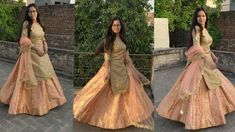 In this video we have showed how to make beautiful heavy Anarkali lehenga with can can attaching inside it with new trick and method. You can wear this lehen. Choli Designs, Fancy Blouse Designs, Blouse Neck Designs, Anarkali Lehenga, Saree, Easy Sewing Projects, Sewing Ideas, Indian Dresses, Frocks