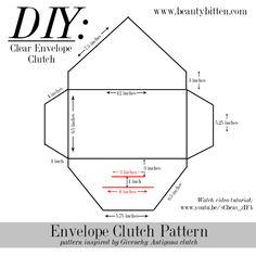 beautybitten   a personal style & beauty blog : DIY: Clear Envelope Clutch