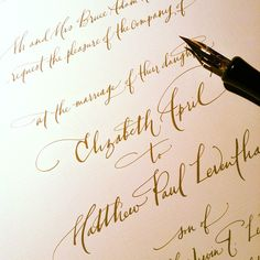 I have such a crush on good calligraphy | paperfinger invitations | papertastebuds