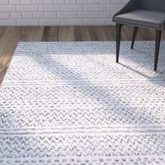 Brayden Studio Cordell Silver Area Rug Rug Size: Rectangle x Grey And White Rug, Gray, Small Blankets, Carpet Stairs, Rugs Usa, Contemporary Area Rugs, Master Bedroom Design, Indoor Outdoor Area Rugs, Room Rugs