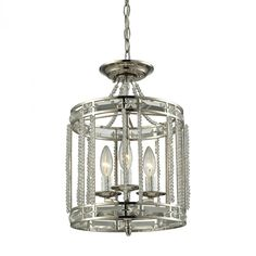 Aubree 3 Light Pendant In Polished Nickel : Y8KY | LightingOne of Cincinnati