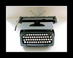 pretty grey typewriter