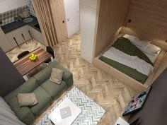 Studio Apartment Floor Plans, Studio Apartment Layout, Small Apartment Interior, Small Apartment Design, Small Space Design, Studio Apartment Decorating, Small House Design, Small Apartments, Small Apartment Plans