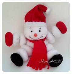 Boneco de Neve de Feltro