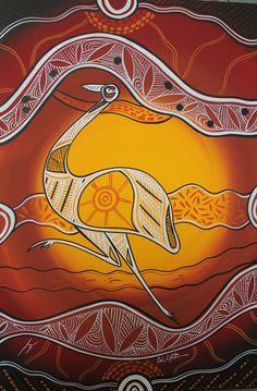 aboriginal emu art - Google Search Aboriginal Art Animals, Aboriginal Art Symbols, Aboriginal Dot Painting, Aboriginal Artists, Indigenous Australian Art, Indigenous Art, Australian Birds, Kunst Der Aborigines, Art For Art Sake