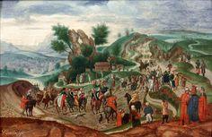 Херри Мет де Блес (Herri met de Bles, ca. 1510-1550, Dutch) Несение креста (The way to Calvary) 1541-1560 56.2 х 82.5 д.,м. Париж, Художественная галерея De Jonckheere