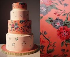 floral patter four tier cake