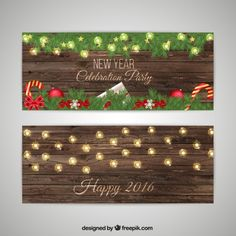 New Year Party Invitation Pack Free Vector