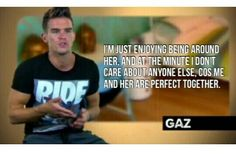 Even Gaz admits that him and Charlotte are perfect