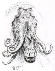 Early concept art by Wayne Barlowe.