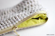 Treble Crochet Zip Pouch TUTORIAL    |    Delia Creates .Com