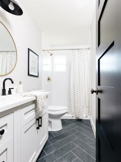 """""""Browse photos of Small Master Bathroom Tile Design. Find some ideas and inspiration for Small Master Bathroom Tile Design to increase your own house. Hall Bathroom, Bathroom Renos, Bathroom Flooring, Bathroom Renovations, Dyi Bathroom, Budget Bathroom, Basement Bathroom Ideas, Guest Bathroom Remodel, Bathroom Plumbing"""