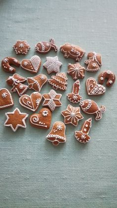 Christmas Treats, Christmas Cookies, Merry Christmas, Xmas, Gingerbread Cookies, Cake Decorating, Cooking Recipes, Sweets, Winter