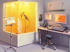 Vocal Studio - Despite feeling a bit aquarium-esque this is inspirational; I need to up my in home studio game