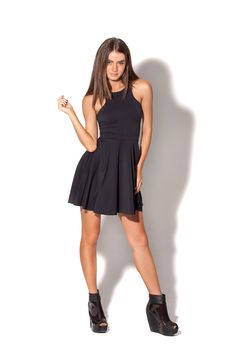 New Matte Black Reversible Skater Dress by Black Milk Clothing