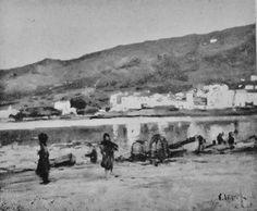Eliseo Meifrén Roig. Platja gran, Cadaqués, Girona. Óleo sobre lienzo. Firmado. Bernardino de Pantorba, 1942.