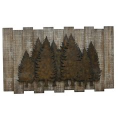 Products Loon Peak geprägte Kiefer Baum Szene Land rustikale Wanddekoration A Brief History of Vacuu Country Wall Decor, Rustic Walls, Rustic Wall Decor, Metal Wall Decor, Bedroom Rustic, Rustic Wood, Rustic Artwork, Tv Decor, Rustic Modern